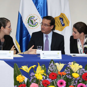 Ms. Jania Ibarra and Ms. Marilyne Pereira from World Bankl and The Honorable Attorney General Luis Antonio Martínez González CFATF Vice Chair