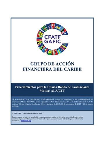 Procedimientos del GAFIC para la Cuarta Ronda de Evaluaciones Mutuas ALD/CFT (Actualizados al 14 de marzo de 2018)