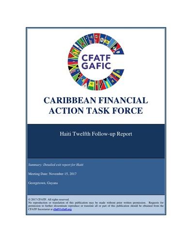 Haiti 12th follow-up report